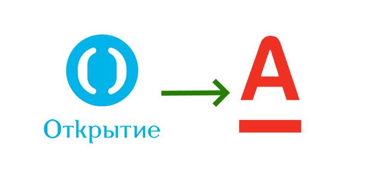 Перевод с карты банка Открытие на карту Альфа банка